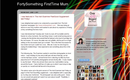 Forty Something First Time Mum