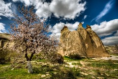 Cappadocia, Turkey (Nejdet Duzen) Tags: trip travel mountain nature turkey spring view trkiye bloom cappadocia greme bahar da manzara kapadokya rgp turkei seyahat doa magicalskies mygearandme