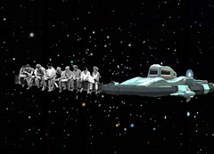 space workmen (Joelstuff V4) Tags: men art classic photoshop stars ufo scifi