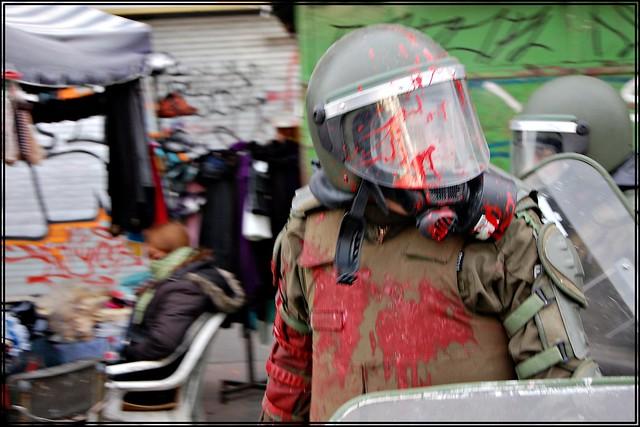 Chile.Luego de finalizada la protesta de hoy...