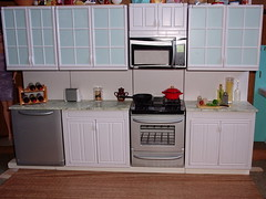 Kitchen (Jwarlocke) Tags: kitchen miniatures ooak barbie rement fashiondoll playset dioramas playscale myfirstkenmore