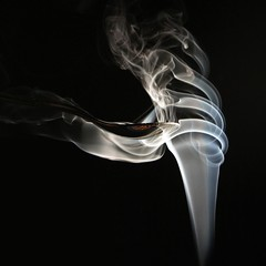 Pirouette (Fairy_Nuff) Tags: canon eos smoke spoon spotlight twirl 7d incense hss pirouette sliderssunday getpushed msh0212 msh021214
