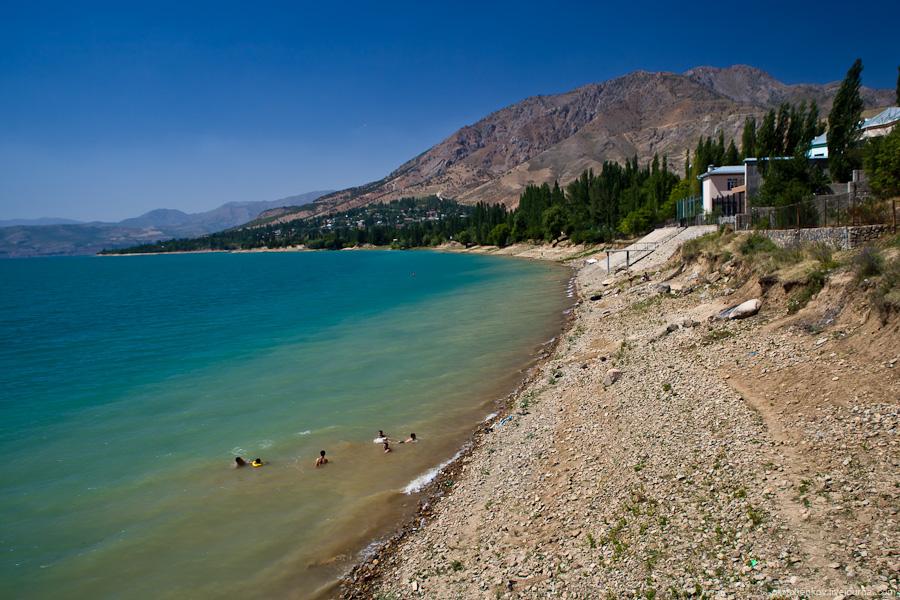 Charvak lake near Tashkent