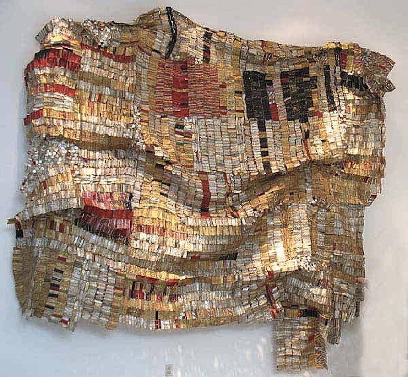El Anatsui recycled wall art 6