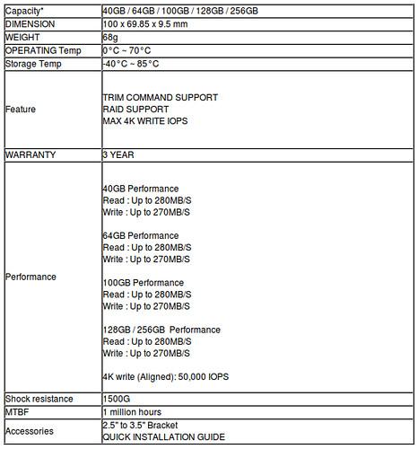 A-DATA S599 SSD specifikációk
