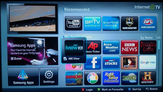 Samsung TV ABC iView