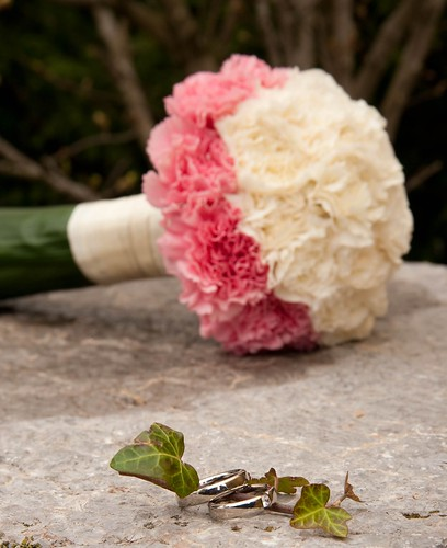 Elegant Carnations Wedding Bouquet View FullSize Image