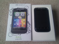 htc wildfire unboxing