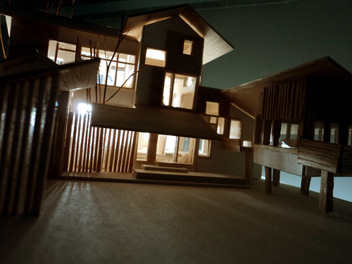 House Model at night