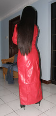 Red Coat (johnerly03) Tags: fashion hair asian pc long boots coat philippines filipina erly