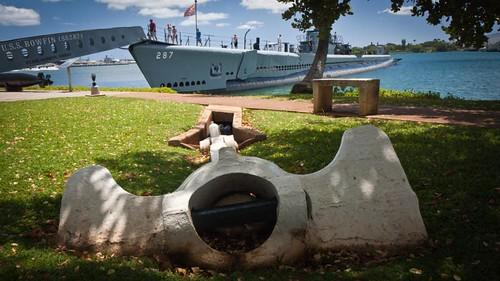 USS Bowfin's anchor