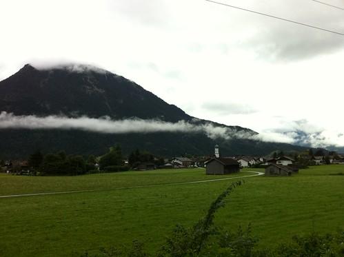"""Wanderung """"Wassertal Rundweg"""" - Blick auf Farchant"""