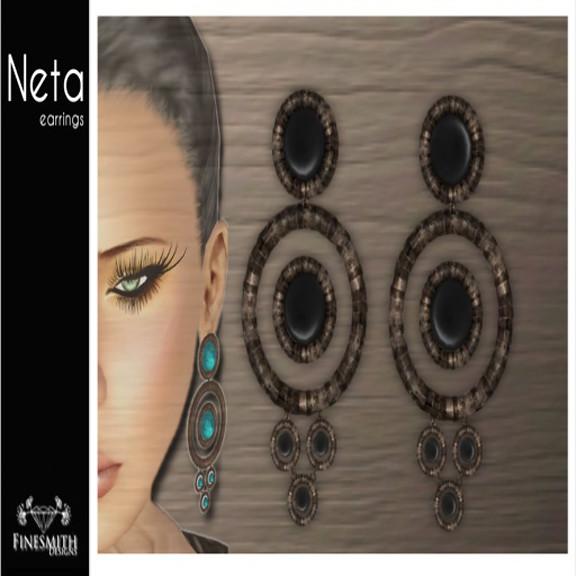 Neta Earrings Onyx