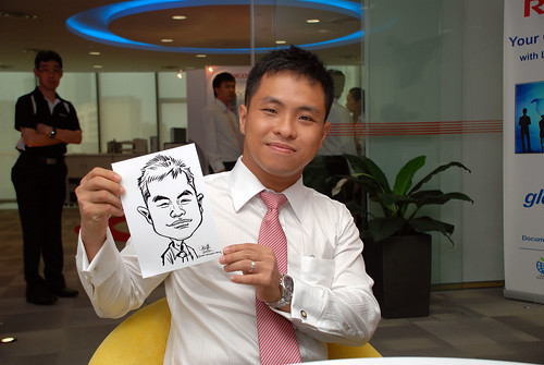 Caricature live sketching for Ricoh Roadshow - 2