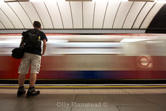 People in their Environment I (Olly Plumstead) Tags: people motion blur london station speed train canon underground platform fast sigma an environment olly 1020 pimlico plumstead 450d oliver6894