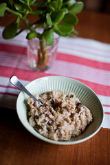 Porridge (nicoalaryjr) Tags: morning food breakfast canon 50mm australia melbourne delicious porridge sultanas breaky wallnuts breakie