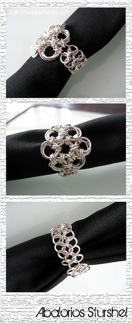Anillo Flor Chainmaille