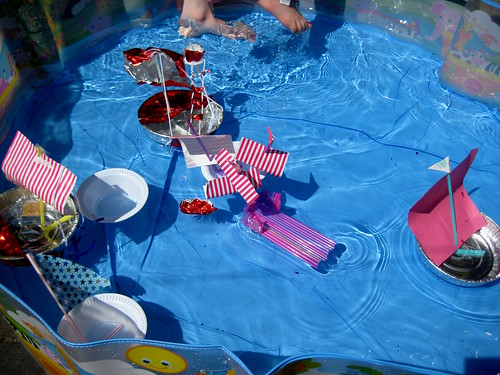 how to make a toy boat flotilla