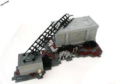 Fallout: Scrapyard. (Lego Junkie.) Tags: 3 lego map apocalypse scrapyard dogmeat levels fallout apoc apocalego