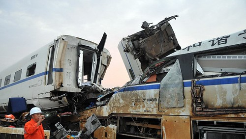 Train Wreck in Wenzhou, Zhejiang Province - Train Label 'Harmony' 1