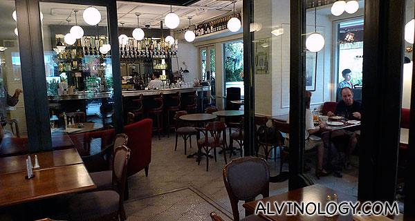 Inside the restaurant/ mini bar