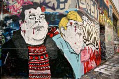Street Art (dprezat) Tags: street urban paris art collage painting stencil tag graf peinture aerosol bombe ratp pochoir ruedespyrnes ruedelagny sonyalpha700 entrepotratp