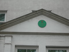 Photo of Thomas Coke and John Wesley green plaque