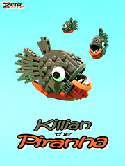 Killian the Piranha (NPU contest entry) (ZetoVince) Tags: red fish greek lego vince piranha piranhas npu zeto zetovince dreamdealer