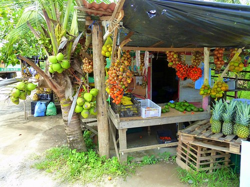 Fruit stand at Parrita