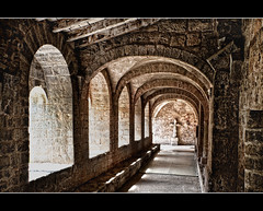 Gallery (Focusje (tammostrijker.photodeck.com)) Tags: old france gallery arch cross medieval saintguilhemledésert