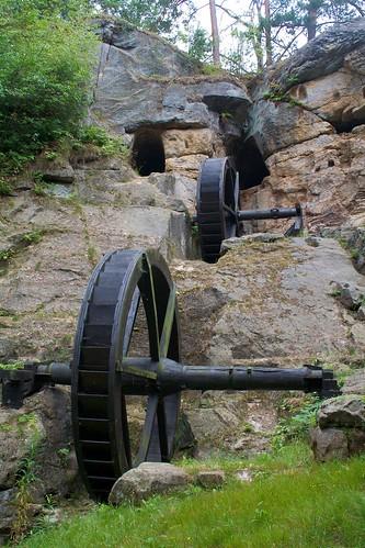 Die Mühlenräder der Regensteinmühle