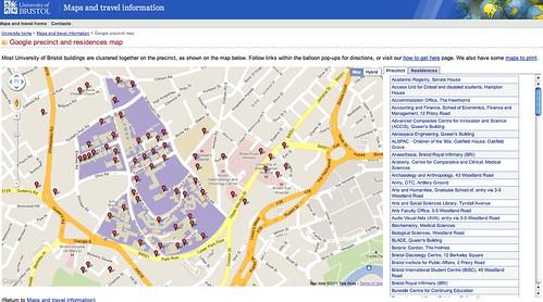 Bristol U campu map