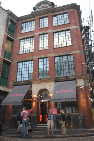 Fifteen Restaurant London England Jamie Oliver