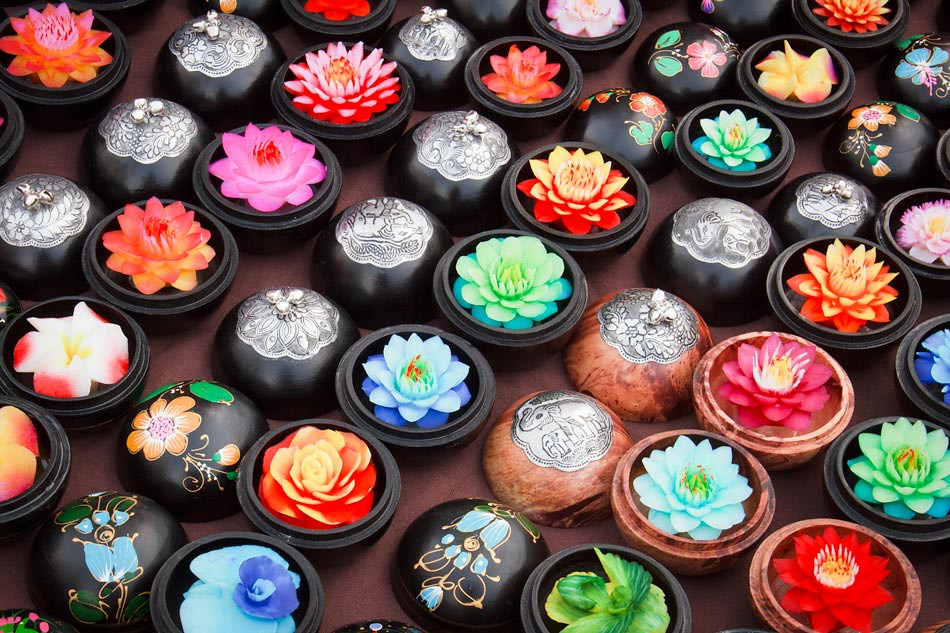 Travel Photos: Delicate Soap Flowers from a Thai Market