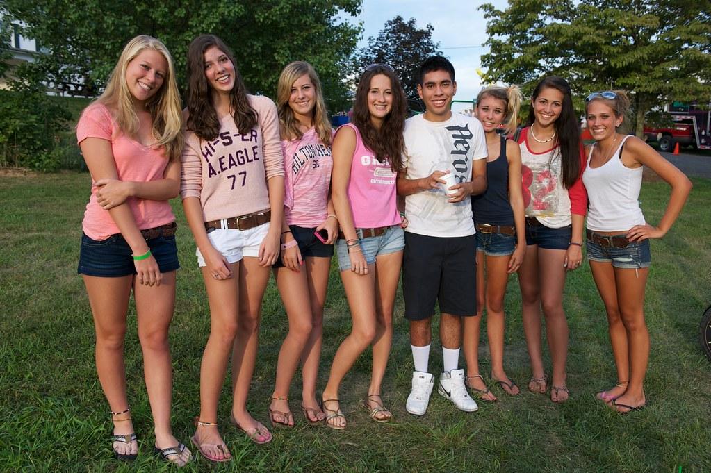cute teens guy and a pool