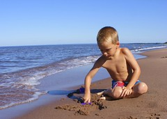 Baby on the Beach (pj4sberg) Tags: beach minnesota kid son duluth lakesuperior parkpoint