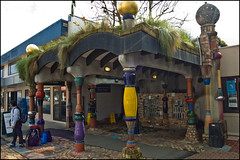 The famous Hundertwasser Public Toilets in Kawakawa