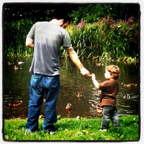 Feeding the ducks!