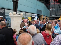 Jimmy Hill Statue Unveiling (robertwilson2000) Tags: city statue john george hill jimmy coventry fc curtis fooball jimmyhill johnsillet sillet coventrycityfcjimmyhill