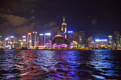 hong kong convention and exhibition center (Hlne F) Tags: ferry night landscape hongkong central ifc wanchai royalgarden hongkongbay kowlon