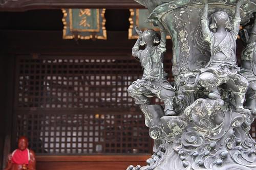 なで仏と彫刻 / Pindola Bharadvaja,Carving