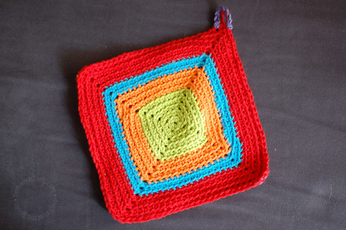 square-y side of potholder