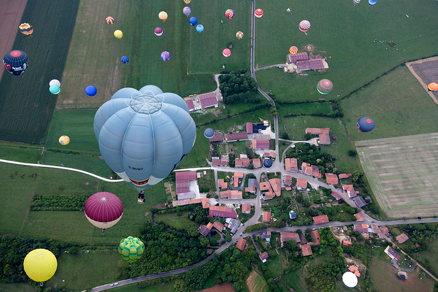 Fly over France, LORRAINE MONDIAL AIR BALLONS, Chambley, France