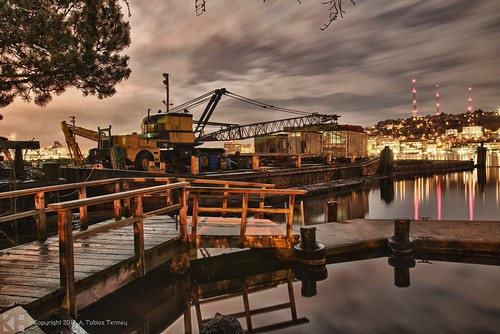 HDR: Eastlake Docks in Seattle
