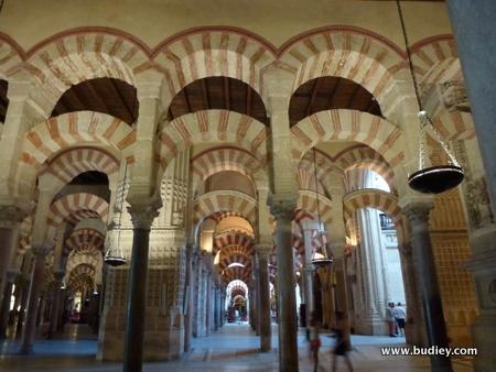 Dalam masjid Cordoba yang kini menjadi Gereja di Spain.