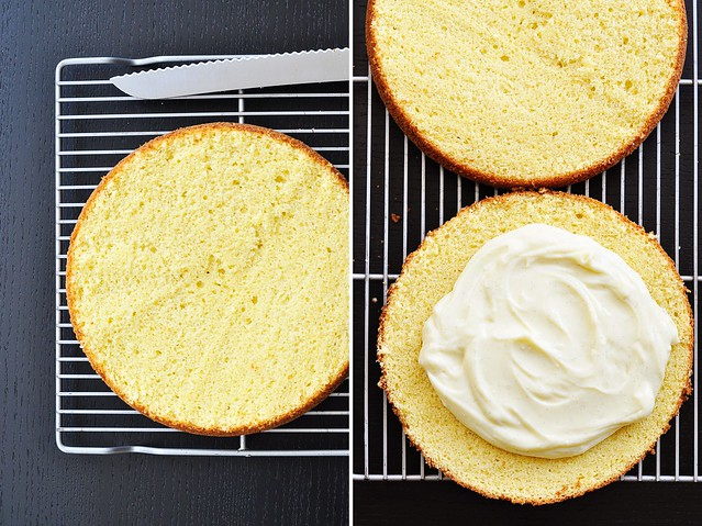 Yellow Cake & Vanilla Cream
