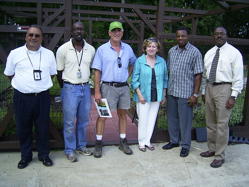 Group picture from the Longview/Interfaith Food Shuttle Outreach Partnership.  Pictured from Left to right is David Wehbe, Wake County School System; Patrick Faulkner, Outreach Partner; Sun Butler, interfaith Food Shuttle (Outreach Partner); Barbara Leach, Associate Administrator; Johnnie Darden, Outreach Partner volunteer; and Larry Atkinson, Raleigh RO Director.