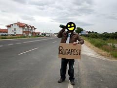 Hitchhiking in Hungary after border with Ukranian home-made wine