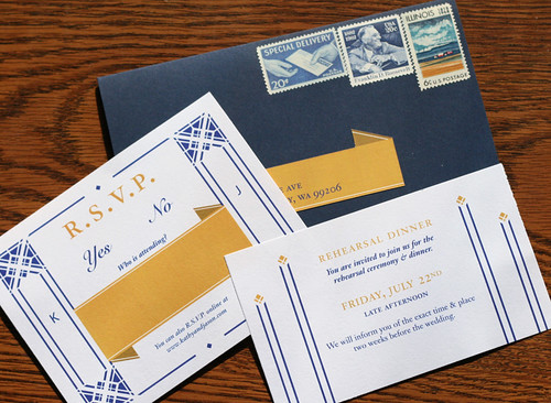 Wedding Invitations, RSVP card & Rehearsal card