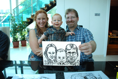 caricature live sketching for wedding solemnisation - 4
